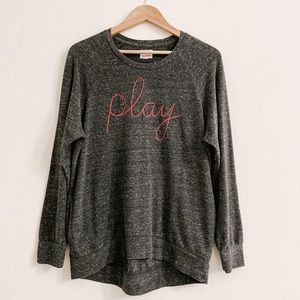 SUNDRY play pullover style sweatshirt charcoal